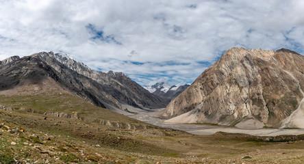 Beautiful landsacpe on the way to Zanskar road at Himalaya Range, Zanskar Range, Pensi La, Jammu and Kashmir.