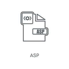 Asp linear icon. Asp concept stroke symbol design. Thin graphic elements vector illustration, outline pattern on a white background, eps 10.