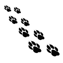 Paw print. Animal paw. Footprint, footstep. Vector illustration