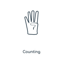 counting icon vector