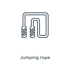 jumping rope icon vector
