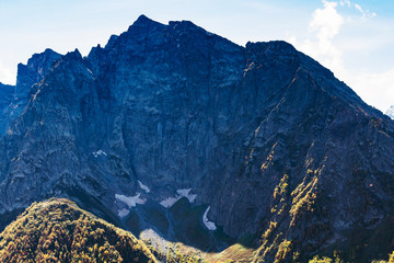 rock near Dombay resort village in North Caucasus