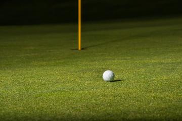 Golfball am Green