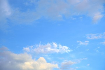white cloud in sky on blue sky nature