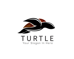 tortoise logo, Swimming turtle logo inspiration