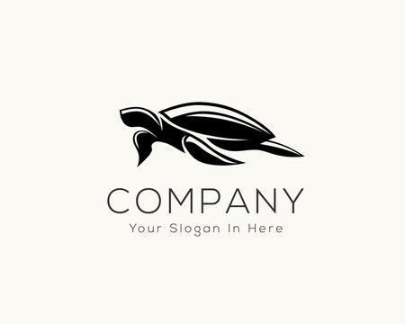 swimming turtle logo design inspiration