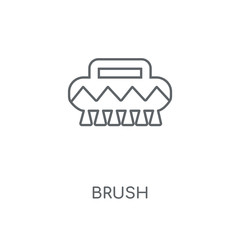 Brush linear icon. Brush concept stroke symbol design. Thin graphic elements vector illustration, outline pattern on a white background, eps 10.