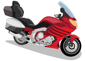 Motorcycle. Isolated on white background. Vector illustration.