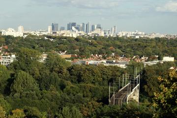 La Défense vu depuis Saint-Germain-en-Laye