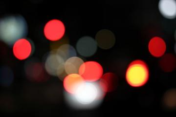 夜の都市 ボケ背景テクスチャ