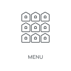 Menu linear icon. Menu concept stroke symbol design. Thin graphic elements vector illustration, outline pattern on a white background, eps 10.