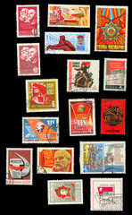 Propaganda of the communist ideology in the postage stamps of the USSR