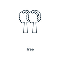 Tree concept line icon. Linear Tree concept outline symbol design. This simple element illustration can be used for web and mobile UI/UX.
