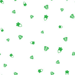 Green Christmas tree on a white background seamless pattern
