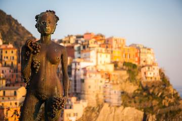 The Statue of Grape Harvesting (Vendemmia), Manarola, Cinque Terre, Italy