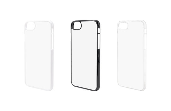 Phone case for protection  on isolated background with clipping path.