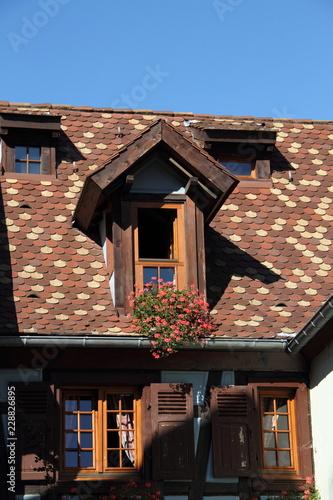 Berühmt Dachgaube mit Blumenkasten