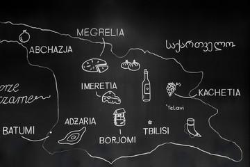 Georgian restaurant with menu board