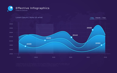 Vector modern infographic background with statistic diagrams