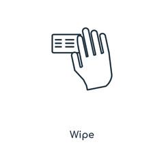 wipe icon vector