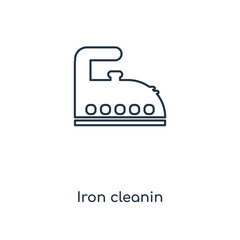 Iron cleanin concept line icon. Linear Iron cleanin concept outline symbol design. This simple element illustration can be used for web and mobile UI/UX.