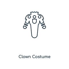 clown costume icon vector
