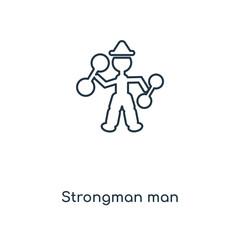 strongman man icon vector
