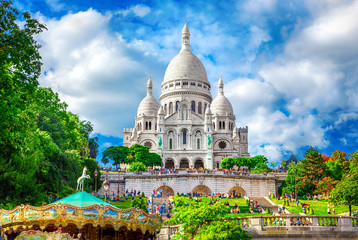 Photo sur Plexiglas Paris Basilica Sacre Coeur