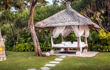 Relaxation hut in Bali Wall mural