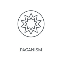 Paganism linear icon. Paganism concept stroke symbol design. Thin graphic elements vector illustration, outline pattern on a white background, eps 10.