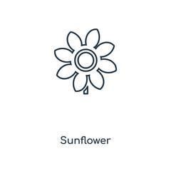 sunflower icon vector