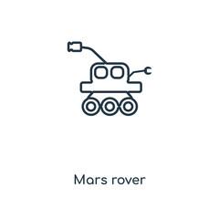 mars rover icon vector