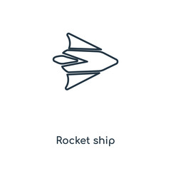 rocket ship icon vector