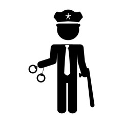 police agent with handcuffs