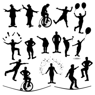 circus people silhouette