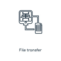 file transfer icon vector icon vector