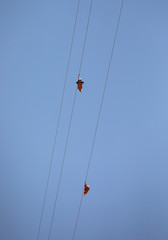 adventure sport - zipline slide down Jebel Jais mountain