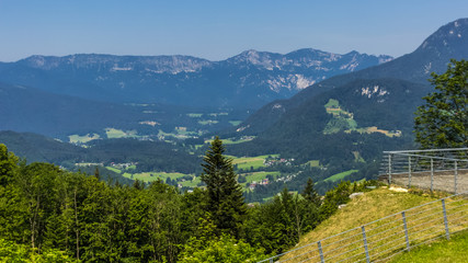 Beautiful alpine view at the Obersalzberg - Berchtesgaden