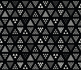geometric triangle seamless pattern design