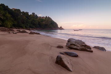 Sunrize over Banana beach, Phuket, Thailand early in the morning.