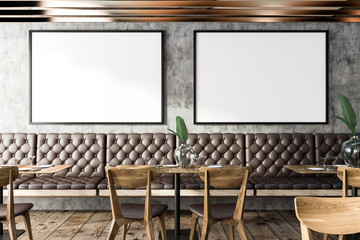 Grunge restaurant interior, poster gallery