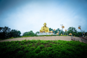 Buddha Sri Wichai Statue at Northern Thailand historical park.