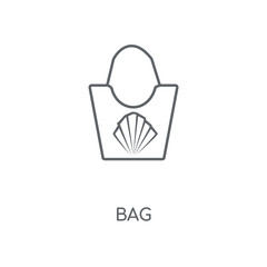 Bag linear icon. Bag concept stroke symbol design. Thin graphic elements vector illustration, outline pattern on a white background, eps 10.