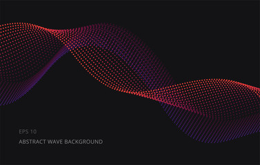 Abstract Vector Background. Wave lines illustration