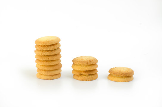 three level cookie on white background