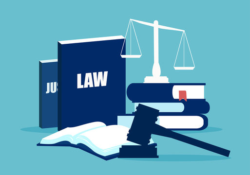 Flat design of law system elements
