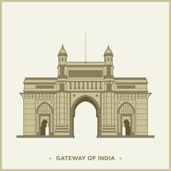 Vector Illustration of the Gateway of India, Mumbai