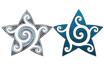 maori tribal stars tattoo