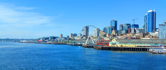 Seattle waterfront on a sunny day