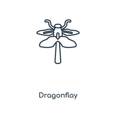 dragonflay icon vector